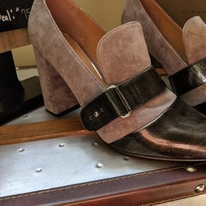 Paolo Shoes - Linda Paolo leather suede sz11 pumps
